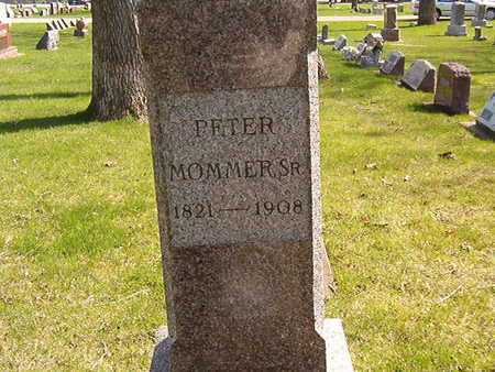MOMMER, PETER SR. - Black Hawk County, Iowa | PETER SR. MOMMER
