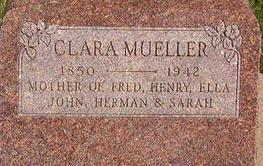 MUELLER, CLARA - Black Hawk County, Iowa | CLARA MUELLER