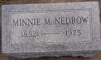 NEDROW, MINNIE M. - Black Hawk County, Iowa | MINNIE M. NEDROW