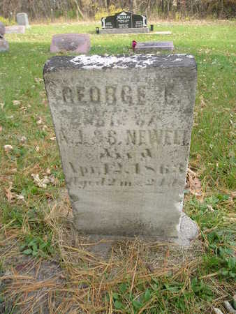 NEWELL, GEORGE E - Black Hawk County, Iowa | GEORGE E NEWELL