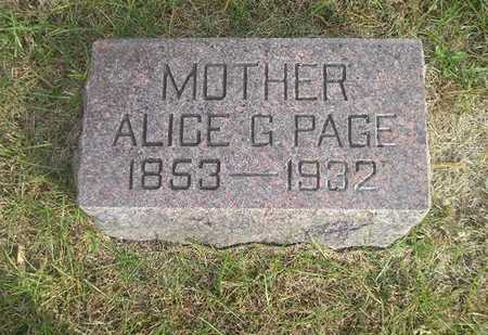 PAGE, ALICE G - Black Hawk County, Iowa | ALICE G PAGE