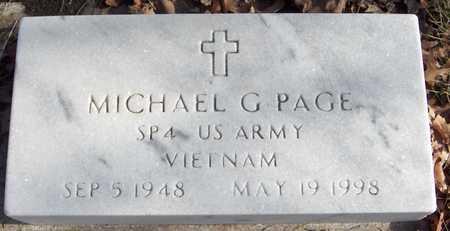 PAGE, SPEC.  MICHAEL G. - Black Hawk County, Iowa | SPEC.  MICHAEL G. PAGE