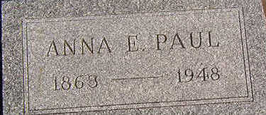 PAUL, ANNA E. - Black Hawk County, Iowa | ANNA E. PAUL