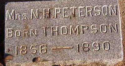 THOMPSON PETERSON, MRS. N. H. - Black Hawk County, Iowa | MRS. N. H. THOMPSON PETERSON