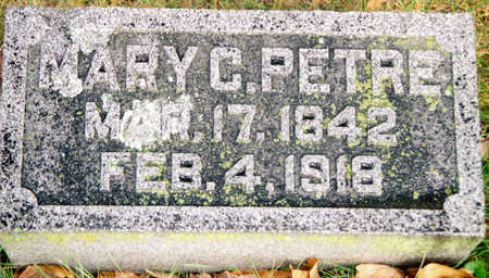 PETRE, MARY C. - Black Hawk County, Iowa | MARY C. PETRE