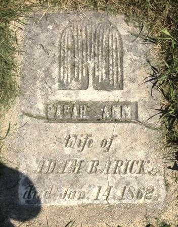 RARICK, SARAH ANN - Black Hawk County, Iowa | SARAH ANN RARICK