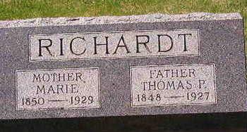 RICHARDT, MARIE - Black Hawk County, Iowa | MARIE RICHARDT