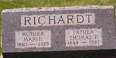 RICHARDT, THOMAS P, - Black Hawk County, Iowa | THOMAS P, RICHARDT