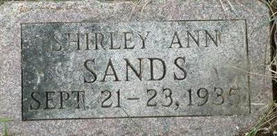 SANDS, SHIRLEY ANN - Black Hawk County, Iowa | SHIRLEY ANN SANDS