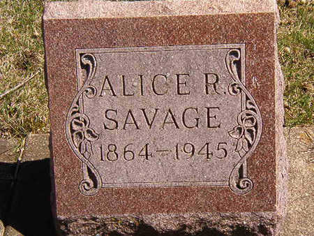 SAVAGE, ALICE R. - Black Hawk County, Iowa | ALICE R. SAVAGE