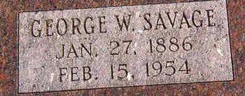 SAVAGE, GEORGE W. - Black Hawk County, Iowa | GEORGE W. SAVAGE