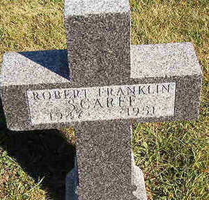 SCARFF, ROBERT FRANKLIN - Black Hawk County, Iowa | ROBERT FRANKLIN SCARFF