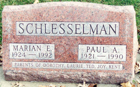 SCHLESSELMAN, PAUL A. - Black Hawk County, Iowa | PAUL A. SCHLESSELMAN