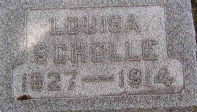 SCHOLLE, LOUISA - Black Hawk County, Iowa | LOUISA SCHOLLE