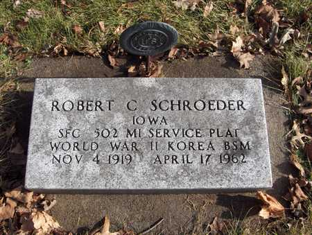 SCHROEDER, SFC ROBERT C. - Black Hawk County, Iowa | SFC ROBERT C. SCHROEDER
