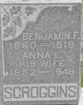 SCROGGINS, BENJAMIN F. - Black Hawk County, Iowa | BENJAMIN F. SCROGGINS