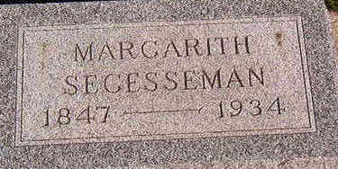 SEGESSEMAN, MARGARITH - Black Hawk County, Iowa | MARGARITH SEGESSEMAN