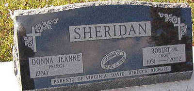 PEIRCE SHERIDAN, DONNA JEANNE - Black Hawk County, Iowa | DONNA JEANNE PEIRCE SHERIDAN