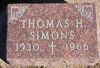 SIMONS, THOMAS H. - Black Hawk County, Iowa | THOMAS H. SIMONS