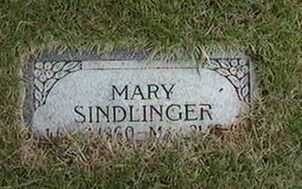 SINDLINGER, MARY - Black Hawk County, Iowa | MARY SINDLINGER