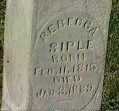SIPLE, REBECCA - Black Hawk County, Iowa   REBECCA SIPLE