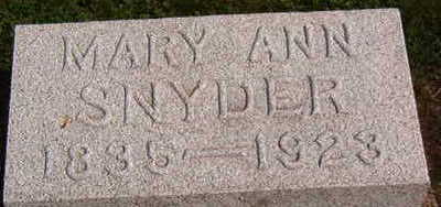 SNYDER, MARY ANN - Black Hawk County, Iowa | MARY ANN SNYDER