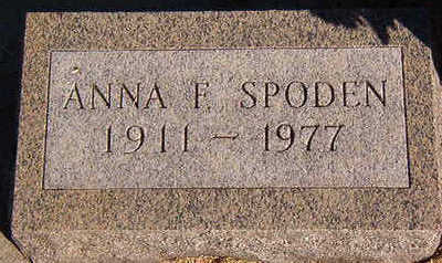 SPODEN, ANNA F. - Black Hawk County, Iowa | ANNA F. SPODEN