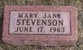 STEVENSON, MARY JANE - Black Hawk County, Iowa | MARY JANE STEVENSON