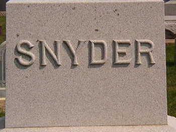 STONE, SNYDER FAMILY - Black Hawk County, Iowa | SNYDER FAMILY STONE