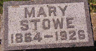 STOWE, MARY - Black Hawk County, Iowa | MARY STOWE