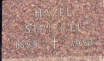 STRIEGEL, HAZEL - Black Hawk County, Iowa | HAZEL STRIEGEL