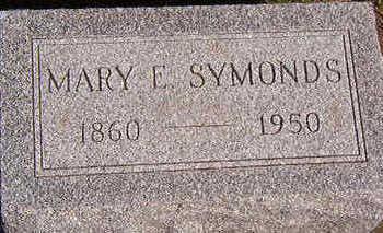 SYMONDS, MARY E. - Black Hawk County, Iowa | MARY E. SYMONDS