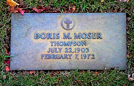 THOMPSON, DORIS M. MOSER - Black Hawk County, Iowa | DORIS M. MOSER THOMPSON