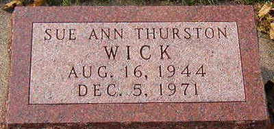 THURSTON WICK, SUE ANN - Black Hawk County, Iowa | SUE ANN THURSTON WICK
