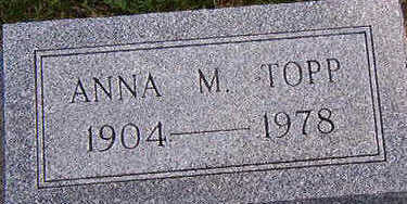 TOPP, ANNA M. - Black Hawk County, Iowa | ANNA M. TOPP