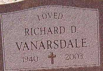 VANARSDALE, RICHARD D - Black Hawk County, Iowa | RICHARD D VANARSDALE