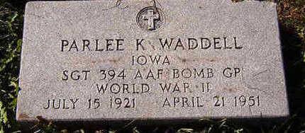 WADDELL, PARLEE K. - Black Hawk County, Iowa | PARLEE K. WADDELL
