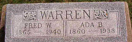WARREN, ADA B. - Black Hawk County, Iowa | ADA B. WARREN