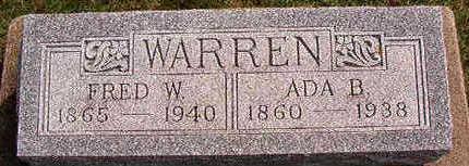WARREN, FRED W. - Black Hawk County, Iowa | FRED W. WARREN