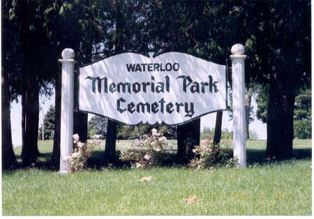 WATERLOO MEMORIAL PARK, CEMETERY - Black Hawk County, Iowa | CEMETERY WATERLOO MEMORIAL PARK
