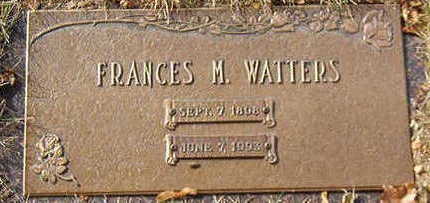 WATTERS, FRANCES M. - Black Hawk County, Iowa | FRANCES M. WATTERS