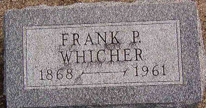 WHICHER, FRANK P. - Black Hawk County, Iowa | FRANK P. WHICHER