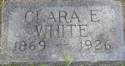 WHITE, CLARA E. - Black Hawk County, Iowa | CLARA E. WHITE