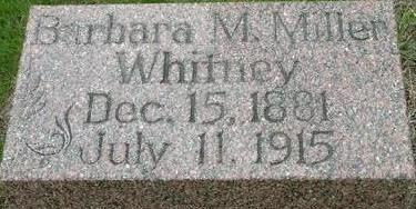 MILLER WHITNEY, BARBARA - Black Hawk County, Iowa | BARBARA MILLER WHITNEY