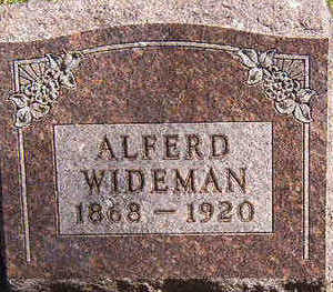 WIDEMAN, ALFERD - Black Hawk County, Iowa | ALFERD WIDEMAN