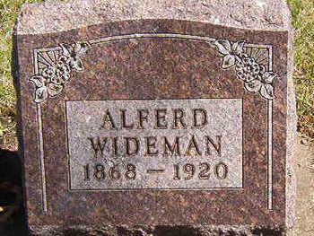 WIDEMAN, ALFRED WINFORD - Black Hawk County, Iowa | ALFRED WINFORD WIDEMAN