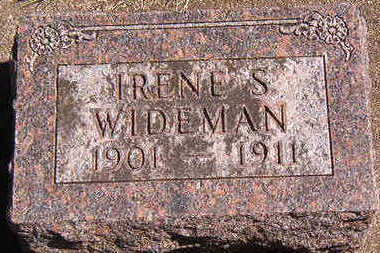 WIDEMAN, IRENE S. - Black Hawk County, Iowa | IRENE S. WIDEMAN
