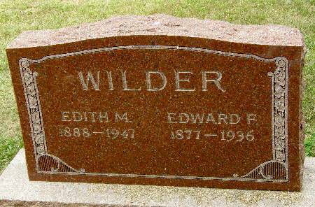 WILDER, EDWARD F. - Black Hawk County, Iowa | EDWARD F. WILDER