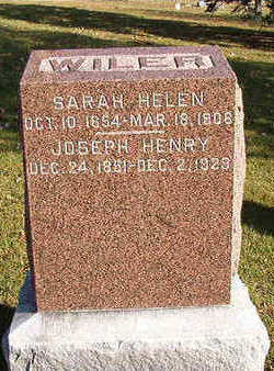 WILER, SARAH HELEN - Black Hawk County, Iowa | SARAH HELEN WILER