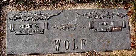 WOLF, ADA P. - Black Hawk County, Iowa | ADA P. WOLF
